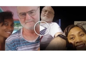 Young Filipina from the poor family married 57-year-old American tourist. Is this a true love?