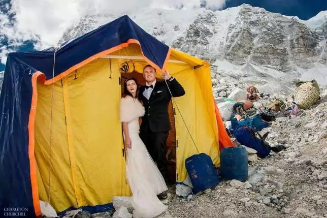 Couple marries at the top of Mt. Everest