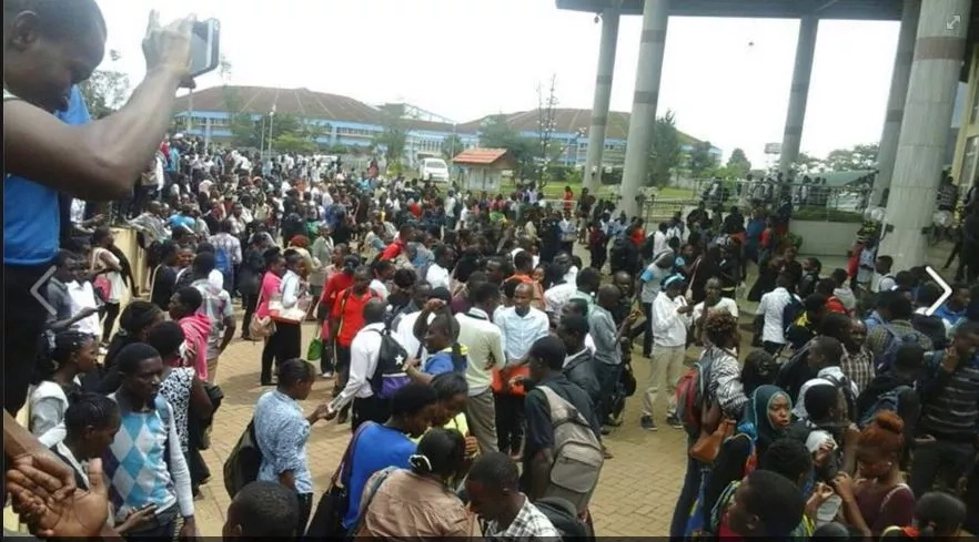 Students suffer injuries following a terror scare at Kenyatta University's library