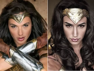 Gorgeous Gal Gadot impressed by Paolo Ballesteros' Wonder Woman transformation