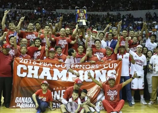 After 8 years of drought, The Barangay Ginebra Gin Kings finally won the championship.