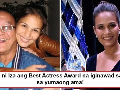 Para sa ama ang pinagpaguran! Iza Calzado's first ever Best Actress award is her offering to beloved deceased father