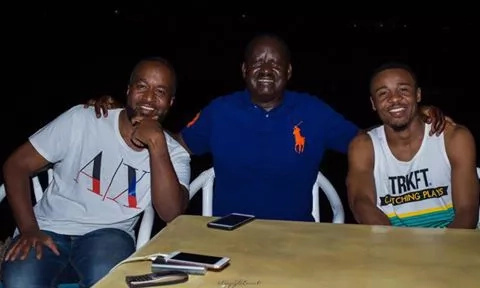 Raila Odinga, Joho and Ali Kiba spend some quality time before Ali Kiba's concert in Mombasa