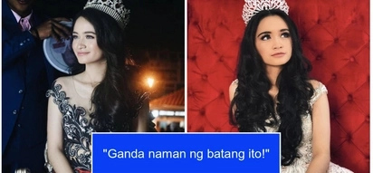 Sunshine Cruz's daughter, Angelina shows us that she is beauty queen material as she joined the Santacruzan