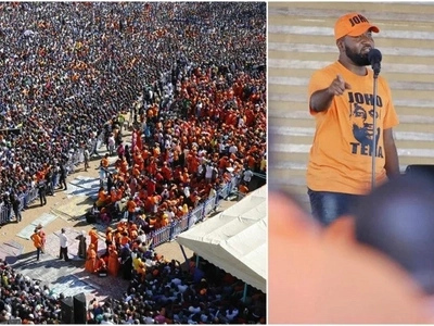 Raila makes promise to Joho before a sea of humanity at Tononoka (photos)