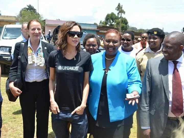 A sun-kissed Governor Kabogo's wife steals the show while meeting Victoria Beckham (photos)