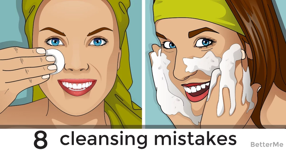 8 cleansing mistakes that can cause our skin to age faster