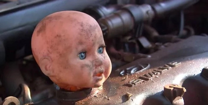 Incredible aboriginal mechanics bring a totally destroyed car back to life with junk