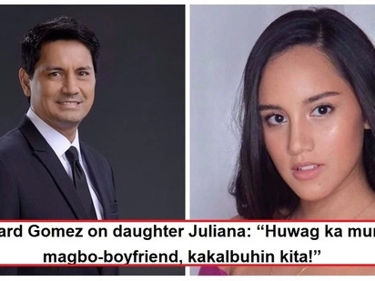 Goma naloka sa posibleng manliligaw sa anak?! Richard Gomez warns daughter Juliana about boys, admits he is not yet ready for any boyfriends
