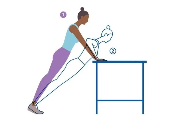 3. Counter Push Ups
