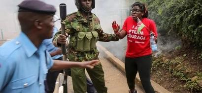 Utovu wa nidhamu! Afisa wa polisi amvua nguo mwanamke hadharani