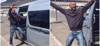 Minibus taxi conductor becomes a hit by dancing to keep commuters happy