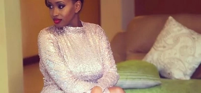 Citizen TV's Janet Mbugua sends Team Mafisi to thirst-land after showing off her thighs in a tiny denim booty short (photo)