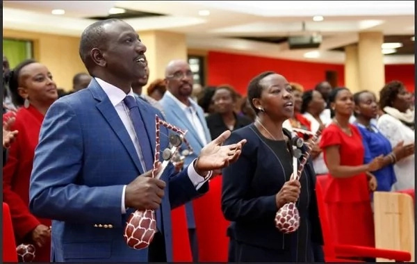 DP Ruto and his lovely wife Rachel playing musical instruments in church is the sweetest thing to see today