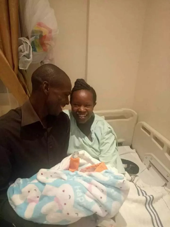 Remember the KSh 100 wedding couple? They welcome their first born and we have the photos