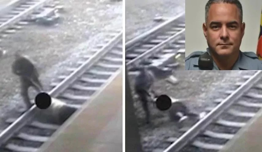 VIDEO: Hero cop saves suicidal man from oncoming train