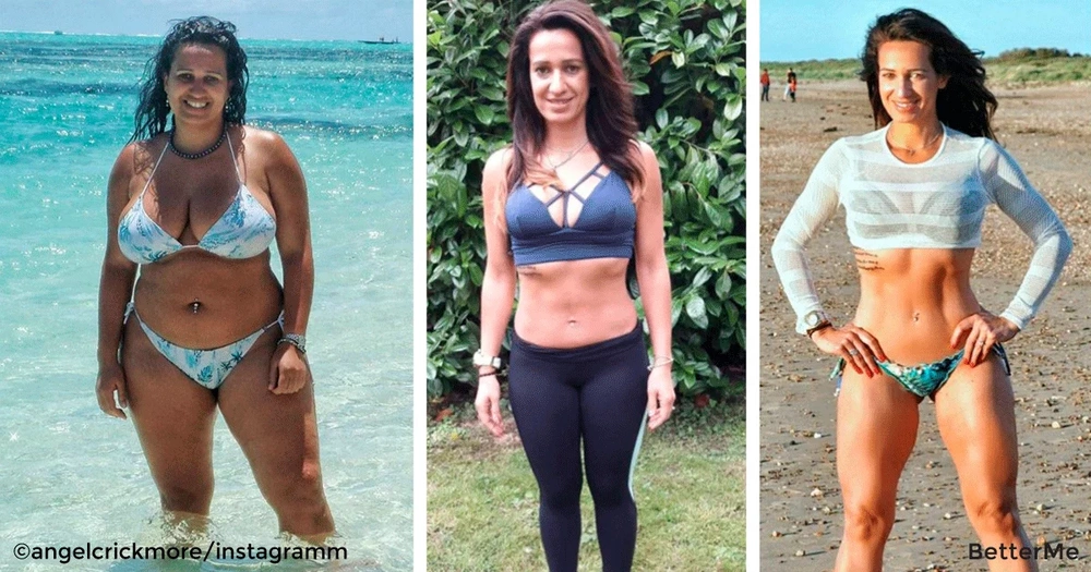 Angela Crickmore's lost 100lbs in 8 months with the diet and training routines