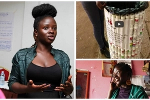 Read how this young woman is raising HIV awareness through artefacts of ARV pill bottles (photos)