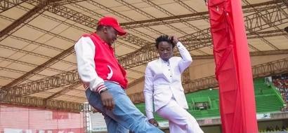 Rais Uhuru Kenyatta ampatia mwanamuziki Bahati kazi - Chipukeezy