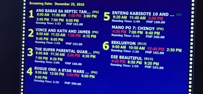 Netizens outraged by SM Cinemas replacing MMFF 2016 official entries with Enteng Kabisote 10, Mano Po 7, and Super Parental Guardians