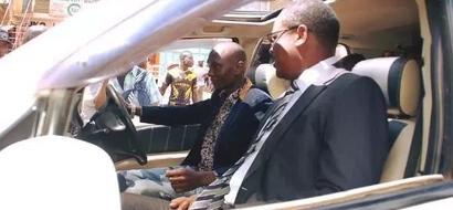 Nairobi governor Kidero feels the heat of Israeli PM's visit (photos)