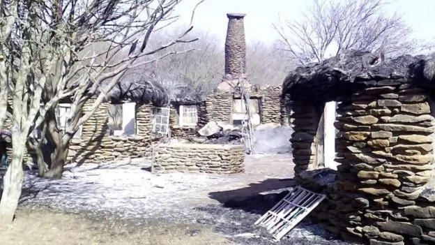 Gallmann's Mukutan Retreat was also torched earlier in March