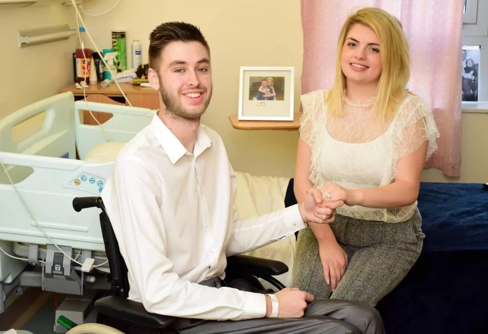 After being told he was terminally ill, Jack decided to propose to Emma. The Sun UK
