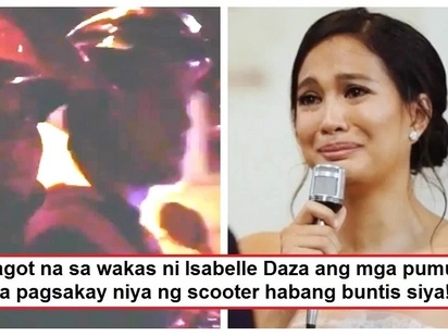 Isinapanganib ba niya ang baby? Isabelle Daza responds to netizens who expressed concern over her scooter ride