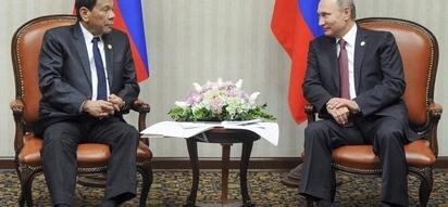 Nagtapo na din sa wakas! Duterte MEETS his idol Putin
