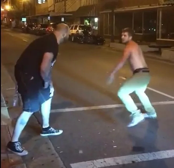 Bouncer uses Mayweather's signature punch against opponent