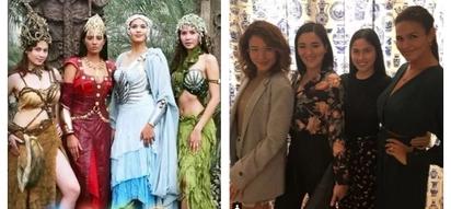 Kabahan na ang mga pashnea! Original 'Encantadia' Sang'gres reunite for ladies night, hints at upcoming project