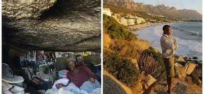 Meet homeless men forced to live in CAVES near dangerous ocean (photos, video)