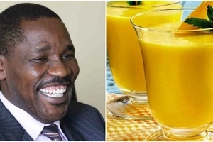 Governor Munya 'finishes' juice very FAST before everyone else at the table (photo)