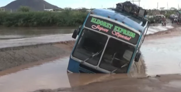 Passengers escape death, bridge overrun by floods as heavy rains cause havoc in Turkana