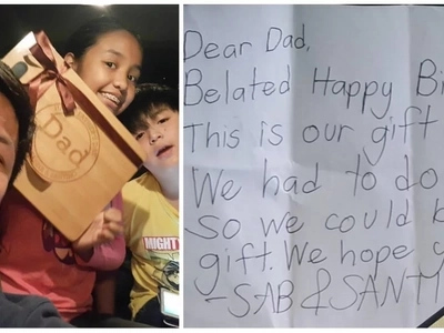 Raymart Santiago's children with Claudine Barretto are the sweetest as they gifted him a hard-earned purchase for his birthday