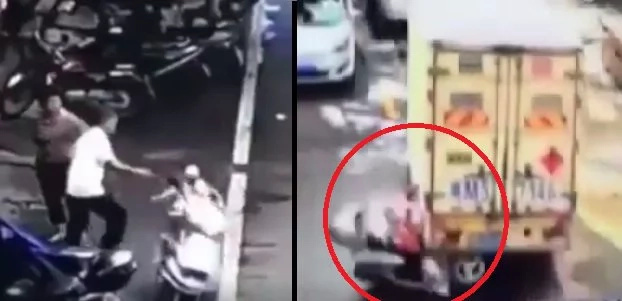 Curious kids crash their dad's motorcycle into van