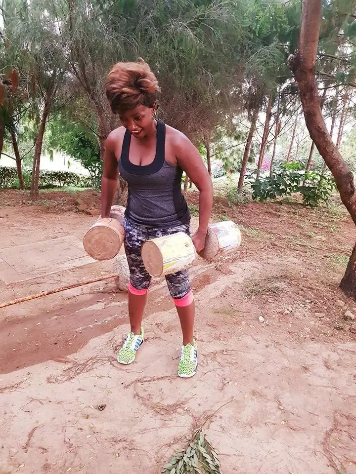 Ababu Namwamba's wife working out at a gym-mwitu is the funniest thing you'll see today (Photos)