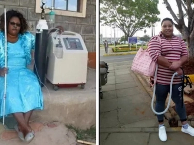Gladys Kamande, the lady who used to walk with an oxygen tank angers Kenyans