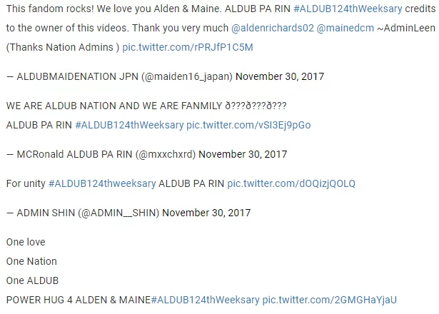"""AlDub pa rin. Walang iwanan."" AlDub fans show their support for Alden Richards and Maine Mendoza"