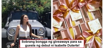 Ginastusan talaga ng todo! Guest giveaways and other details of Isabelle Duterte's debut party have been revealed