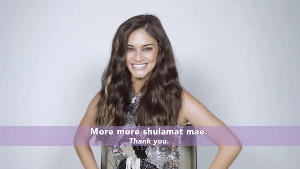 Pia Wurtzbach tries her best to tell Miss Universe speech in gay lingo
