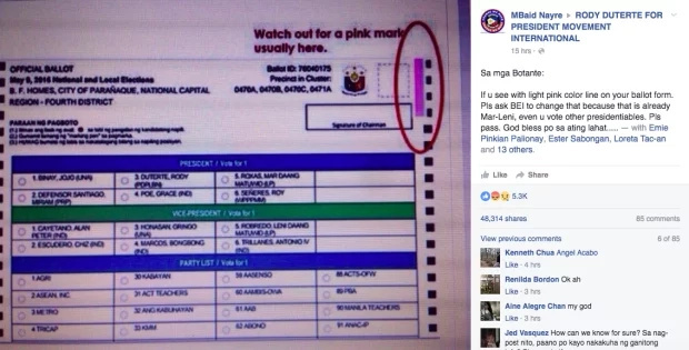 COMELEC denies pre-marked RoRo ballots