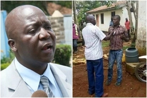 Raila Odinga's cousin pictured beating up a man days after losing in ODM primaries