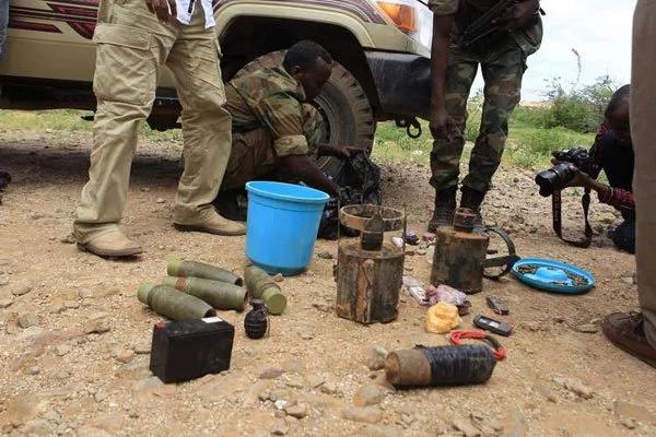 Photos: Al-Shabaab weapons nabbed at Kenya-Somali border