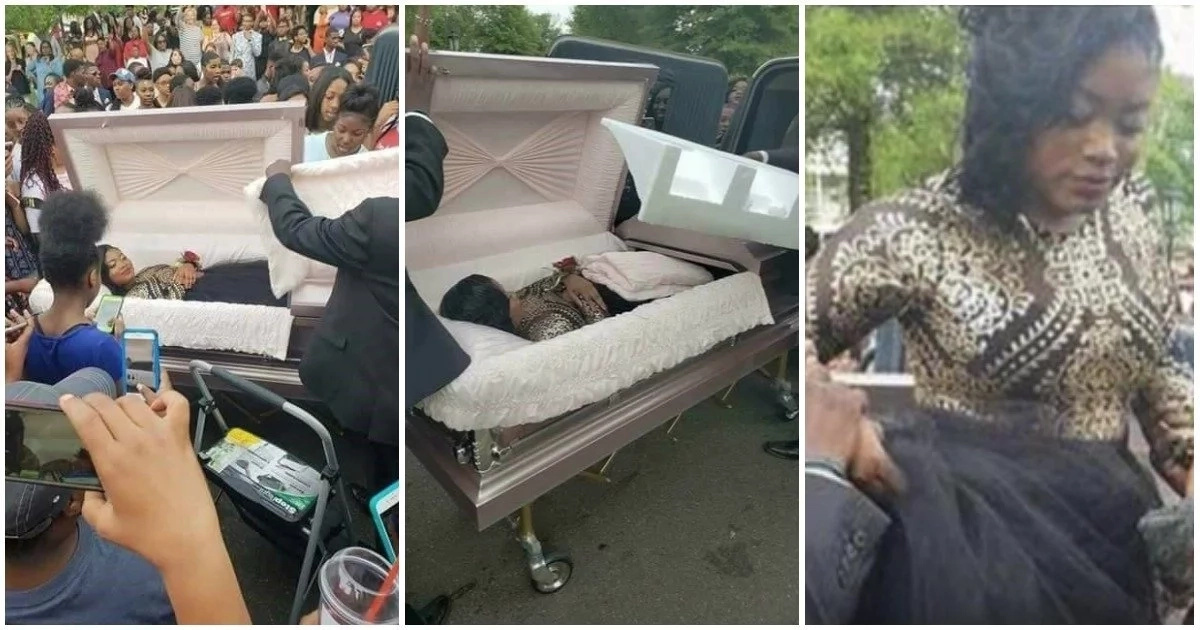 Viral video of an American teen arriving prom in a coffin