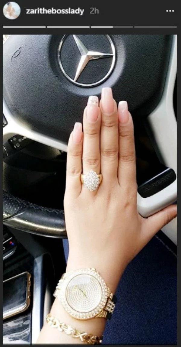 Zari ajishaua kwa pete ya dhahabu siku chache baada ya kumtema Diamond Platinumz