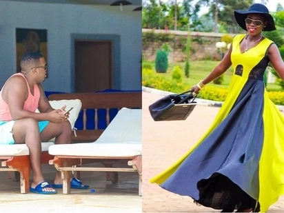 Singer Akothee's manager and lover, Nelly Oaks, suggests she is pregnant