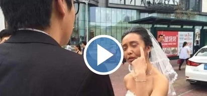 WATCH: Chinese bride pulled off a joke during wedding; everything went wrong after that!