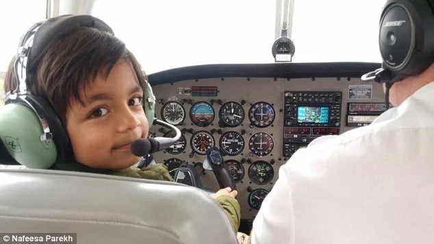 Marwan absolutely loved flying the aircraft. Photo: Nafeesa Parekh
