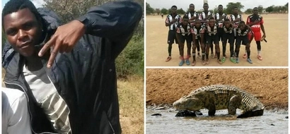 Football player, 19, mauled by 5-metre crocodile during training near infested river (photos)